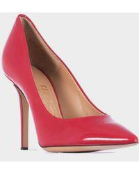 """Ferragamo Red Patent Leather 10Cm """"Susi"""" Shoe - Lyst"""
