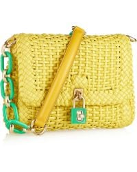 Dolce & Gabbana Woven Coated Leather Shoulder Bag - Lyst