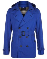 Burberry Brit Hooded Trench Coat - Lyst