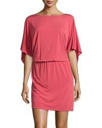 Philosophy di Alberta Ferretti Flutter-Sleeve Jersey Dress - Lyst