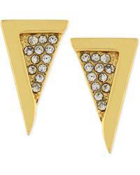 Vince Camuto - Crystal Pavé Triangle Stud Earrings - Lyst