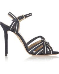 Charlotte Olympia Admiral Knotted Canvas And Leather Sandals - Lyst