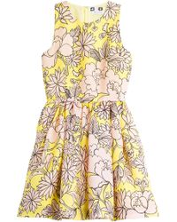 MSGM Printed Silk Dress - Lyst
