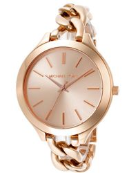 Michael Kors Women'S Rose Gold Tone Dial Rose Gold Tone Ion Plated Stainless Steel - Lyst