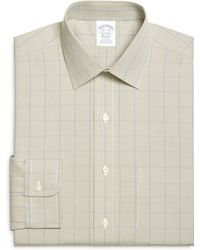 Brooks Brothers Non Iron Slim Fit Houndstooth Overcheck Dress Shirt - Lyst