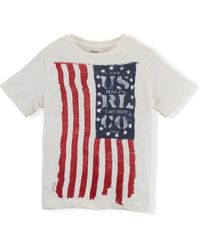 Ralph Lauren Flag Cotton Graphic Tee - Lyst