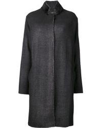 Avant Toi Black Oversized Coat - Lyst
