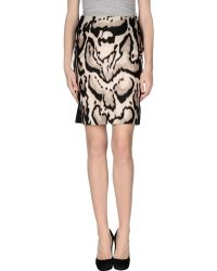 Diane von Furstenberg Carlita Flare Skirt Black - Lyst