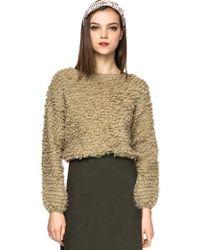 Pixie Market Sam Loop Knit Crop Sweater - Lyst