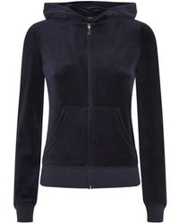 Juicy Couture Brooch Velour Hoodie - Lyst