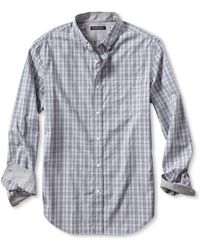 Banana Republic Tailored Slim-fit Soft-wash Open Plaid Shirt - Lyst