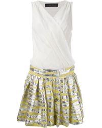 Christian Pellizzari Contrast Skirt Dress - Lyst