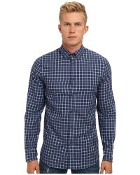 DSquared2 Check Cotton Metal Wired Button Up - Lyst