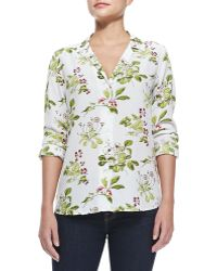 Equipment Long-sleeve Floral Button-down Blouse - Lyst