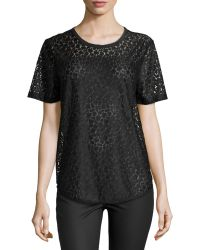 Equipment Riley Florallace Tee - Lyst
