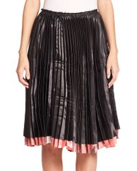 Comme des Garçons Reversible Pleated Skirt pink - Lyst