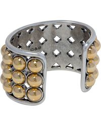 Giles & Brother Ball Cuff silver - Lyst
