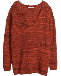 H&M + Knitted Jumper - Lyst