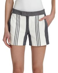 Vince Striped Shorts gray - Lyst
