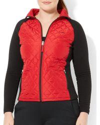 Ralph Lauren Lauren Plus Color Block Fleece Jacket - Lyst