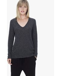 James Perse Gray Cashmere V-neck - Lyst
