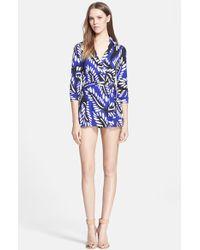 Diane von Furstenberg Women'S 'Celeste' Silk Jersey Romper - Lyst