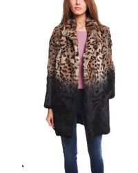 Each x Other Burnt Leopard Fur Coat - Lyst