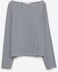 Zara | Boatneck Top | Lyst