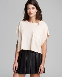 Elizabeth And James Tee Sia Boxy Crop - Lyst