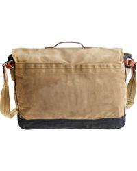 J.Crew - Abingdon Messenger Bag In Two-Tone - Lyst