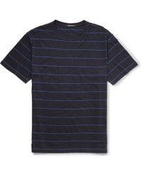 Alexander Wang Striped Linen and Cottonblend Tshirt - Lyst
