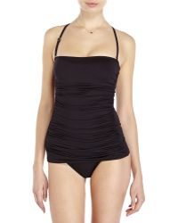 Ivanka Trump - Bandeau Ruched One-Piece Swimsuit - Lyst