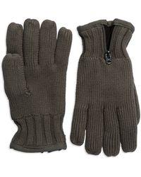 G-star Raw Gray Ribbed Gloves - Lyst