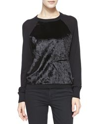 Michael by Michael Kors Fauxfurfront Knit Sweater - Lyst