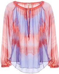 Emilio Pucci Tie-Dye Silk Chiffon Blouse - Lyst