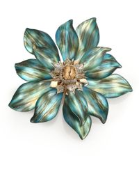 Alexis Bittar Desert Jasmine Lucite, Jasper & Crystal Floral Punk Pin - Lyst