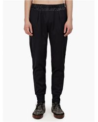 Paul Smith Mens Navy Satin Track Pants - Lyst