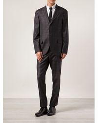 Brunello Cucinelli Plaid Print Suit - Lyst