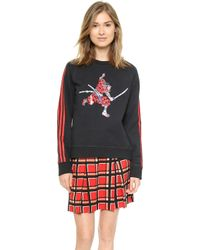 Marc By Marc Jacobs Peyton French Terry Sweatshirt - Black Multi - Lyst