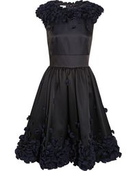 Temperley London Flora Ruffle-appliquãd Satin Dress - Lyst