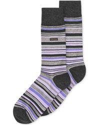 Calvin Klein Men'S Striped Dress Crew Socks - Lyst