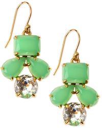 Kate Spade Secret Garden Earrings Green - Lyst