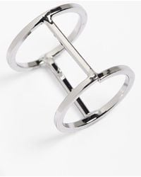 Topshop Cutout Cage Ring - Lyst