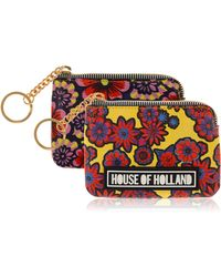 House of Holland - Multi Flower Coin Purse - Lyst