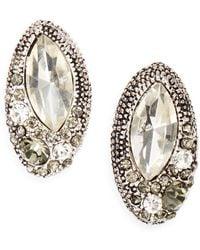 Saks Fifth Avenue Oval Sparkle Cluster Earrrings - Lyst