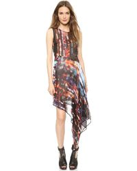 McQ by Alexander McQueen Sleeveless Asymmetrical Dress Blurry Lights - Lyst