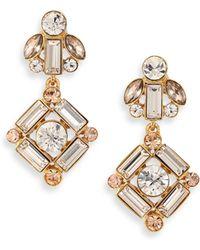 Kate Spade Cocktails & Conversation Drop Earrings gold - Lyst
