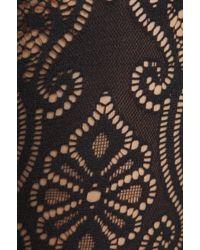 Yummie By Heather Thomson - Bernadette Baroque Lace Legwear in Black - Lyst