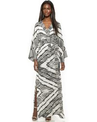 House Of Harlow 1960 Poppy Gypsetter Wrap Maxi Dress - Black/White white - Lyst