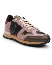 Valentino Camouflage Sneaker - Lyst